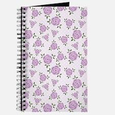 Purple Flowers Pattern Journal