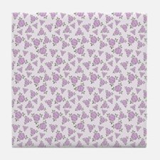 Purple Flowers Pattern Tile Coaster