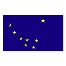 Alaska State Flag Rectangle Bumper Stickers