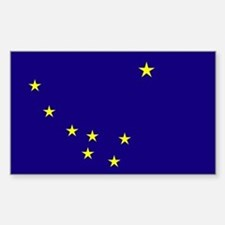 Alaska State Flag Rectangle Bumper Stickers