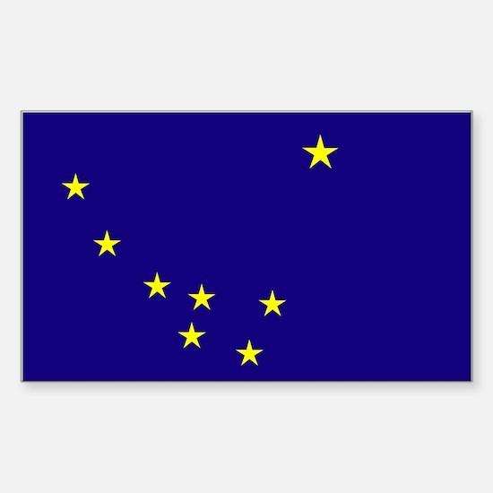 Alaska State Flag Rectangle Decal