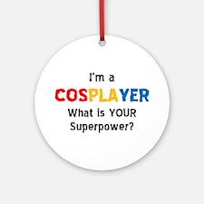 cosplayer Round Ornament