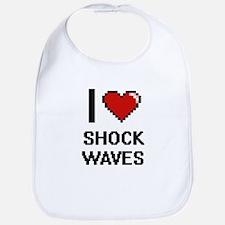 I Love Shock Waves Digital Design Bib