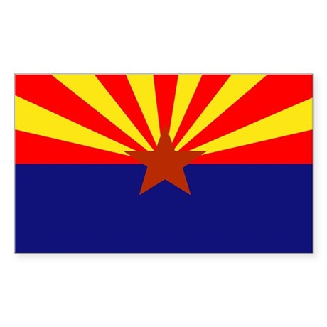 Arizona State Flag Rectangle Sticker