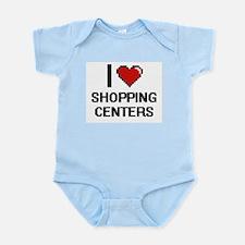 I Love Shopping Centers Digital Design Body Suit