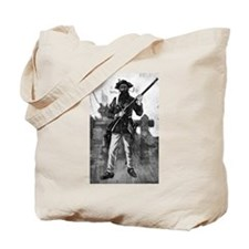 Blackbeard at attention with rifle Tote Bag
