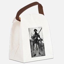 Blackbeard at attention with rifl Canvas Lunch Bag