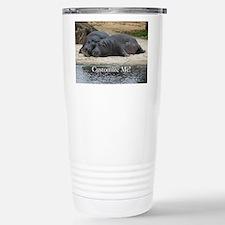 Hippo Love and Snuggles Customizable Travel Mug