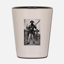 Blackbeard at attention with rifle Shot Glass