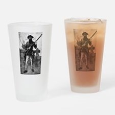 Blackbeard at attention with rifle Drinking Glass