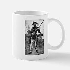 Blackbeard at attention with rifle Mugs