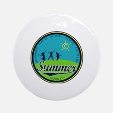 Cute June holidays Round Ornament