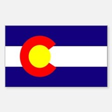 Colorado State Flag Rectangle Decal