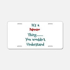 Pal Thing Aluminum License Plate