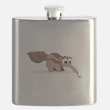 Anteater Cartoon Flask