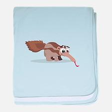 Anteater Cartoon baby blanket
