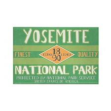 Yosemite National Park (Retro) Rectangle Magnet