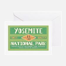 Yosemite National Park (Retro) Greeting Card