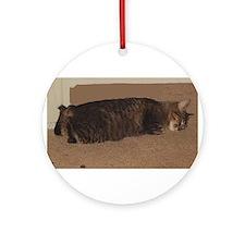 manx sleeping Round Ornament