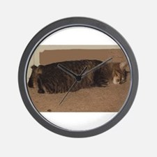 manx sleeping Wall Clock