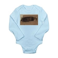 manx sleeping Body Suit