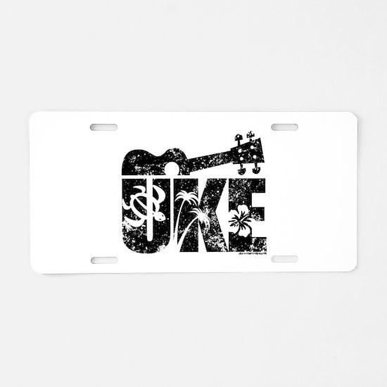 Uke Ukulele Aluminum License Plate