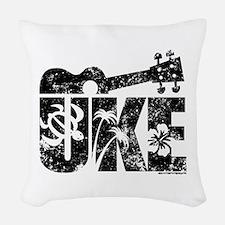 Uke Ukulele Woven Throw Pillow