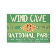 Wind Cave National Park (Retro) Rectangle Magnet