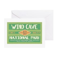 Wind Cave National Park (Retro) Greeting Card