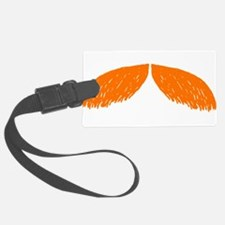 mustache orange 2 Luggage Tag