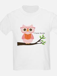 Cute Owl Reading T-Shirt