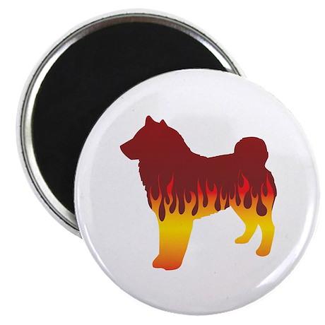 """Sheepdog Flames 2.25"""" Magnet (10 pack)"""