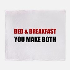 Bed And Breakfast Throw Blanket