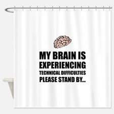 Brain Technical Difficulties Shower Curtain
