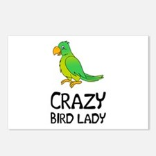 Crazy Bird Lady Postcards (Package of 8)