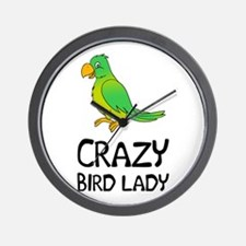 Crazy Bird Lady Wall Clock