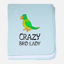 Crazy Bird Lady baby blanket