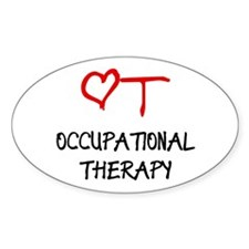 Occupational Therapy Heart Rectangle Decal