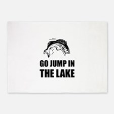Go Jump In Lake 5'x7'Area Rug