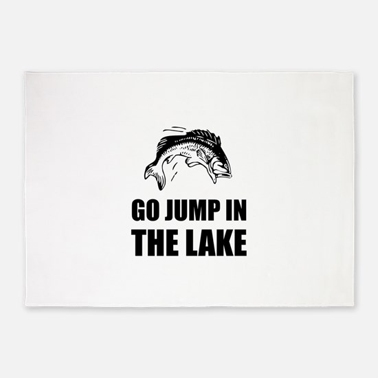 Go Jump In Lake 5'x7'Area Rug