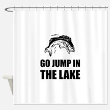Go Jump In Lake Shower Curtain