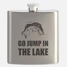 Go Jump In Lake Flask