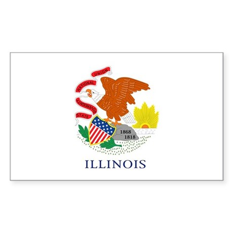 Illinois State Flag Rectangle Sticker