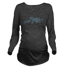 Just Pho it blk Long Sleeve Maternity T-Shirt