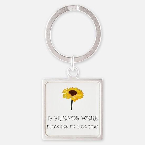 Pick Friends Flowers Keychains