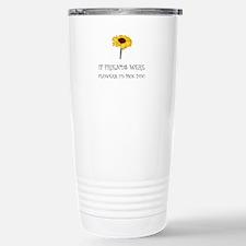 Pick Friends Flowers Travel Mug