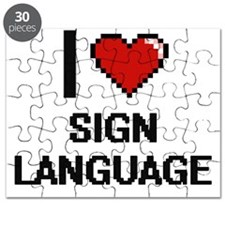 I Love Sign Language Digital Design Puzzle