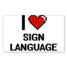 I Love Sign Language Digital Design Decal