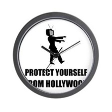 Protect Yourself From Hollywood Wall Clock