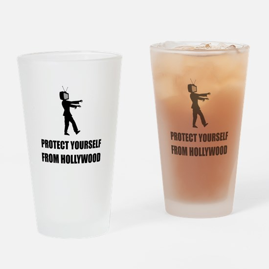 Protect Yourself From Hollywood Drinking Glass